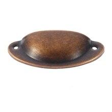 Carcasa nueva en forma de negro Vintage Zinc puerta de aleación tirador de cajón de armario Bin muebles tiradores de copa tirador ligero