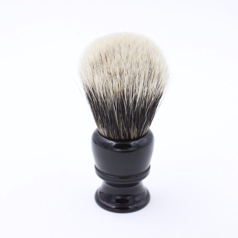 Vigshaving resina preta lidar com melhor texugo cabelo escova de barbear
