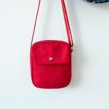 Canvas women mini handbag ladies small cross-body shoulder money bag female phone pouch bolso mujer bolsa feminina for girls