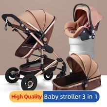 Luxury Baby Stroller 3 in 1 newborn stroller baby car High l