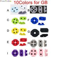 10 colores 1 Juego para Nintendo Game Boy GB DMG-01 caucho conductivo de silicona botones D-pad para Gameboy GB amarillo verde azul rosa