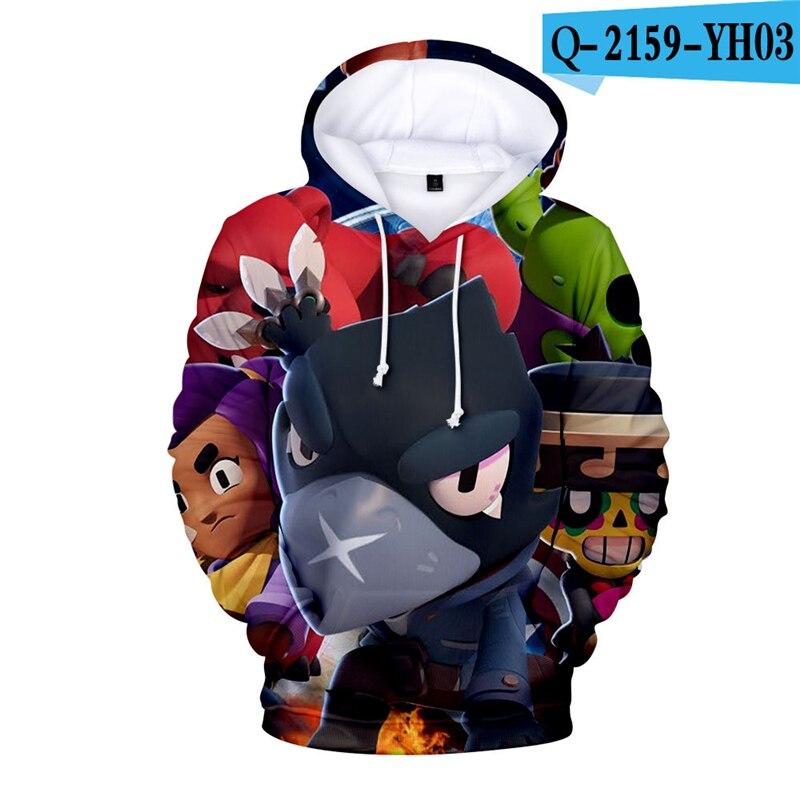 Anime Hoodie Men Sweatshirt Brawl Stars Streetwear-Coat Game 3D High-Quality Fashion