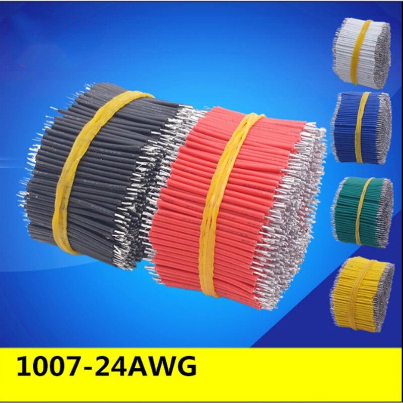 100 шт./лот Оловянная макетная плата, кабель для пайки печатных плат 24AWG 3/4/5/6/8/10 см, соединительный провод Fly Jumper Wire 1007-24AWG