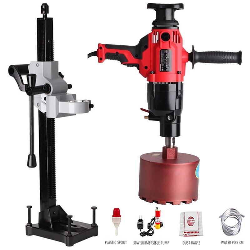 220V Electric Diamond Water Drill Machine 1600r min Engineering Torque Drilling Machine Mini Hand Drill Power Tool Max 180MM