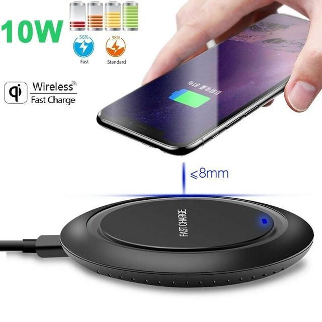 10W Fast Wireless Charger For Samsung Galaxy S9/S9+ S8 S7 Note 9 S7 Edge USB Qi Charging Pad 10W Fast Wireless Charger For Samsu