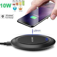 10W Rápido Carregador Sem Fio Para Samsung Galaxy S9/S9 + S8 S7 Nota 9 S7 Borda USB Qi 10W Rápido Carregador Sem Fio de carregamento Pad Para Samsu