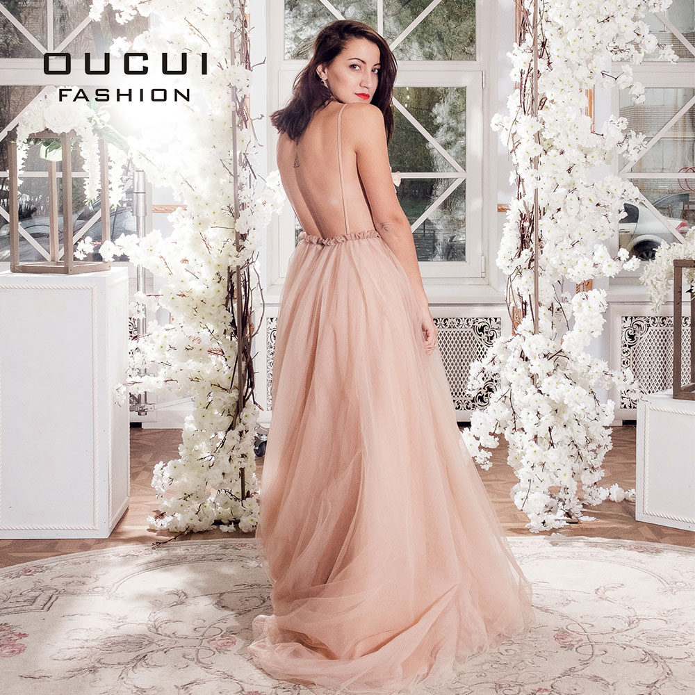 Image 3 - Sexy V Neck Robe De Soiree 2019 Evening Dress Long Prom Dresses Wedding A Line Lace Flower Special Occasion Ball Gown OL103253-in Evening Dresses from Weddings & Events
