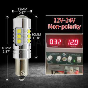Image 5 - 1pcs High Power BA9S BAX9S BAY9S 80W canbus T4W H6W H21W 16SMD CREEXBD chips LED Side 12V 24V No polarity Reverse Parking light