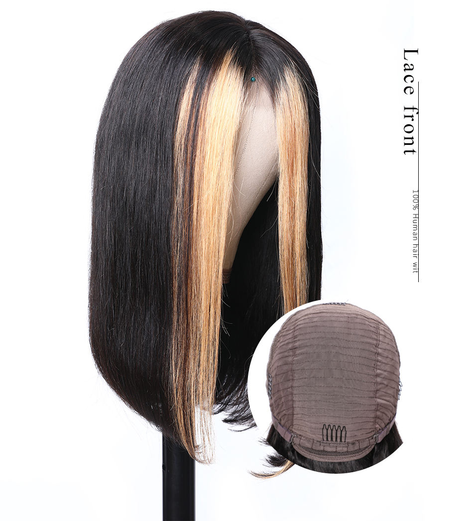 H1ab16b0664594e97881d634e15354b47w Nadula Wig 13*4 Lace Front Wigs For Women Ombre Color With Highlight Human Hair Wig Brazilian Straight Lace Frontal Wigs