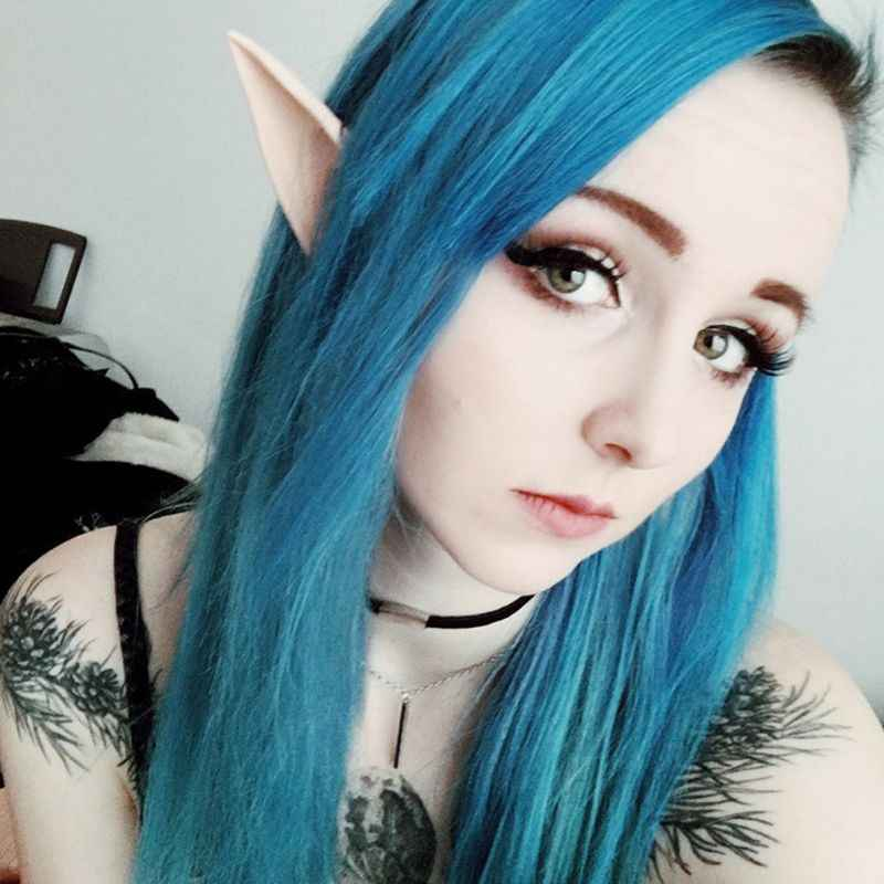 1 Pasang Pesta Halloween Elf Elf Telinga Anime Fairy Cospaly Kostum Vampir Lateks