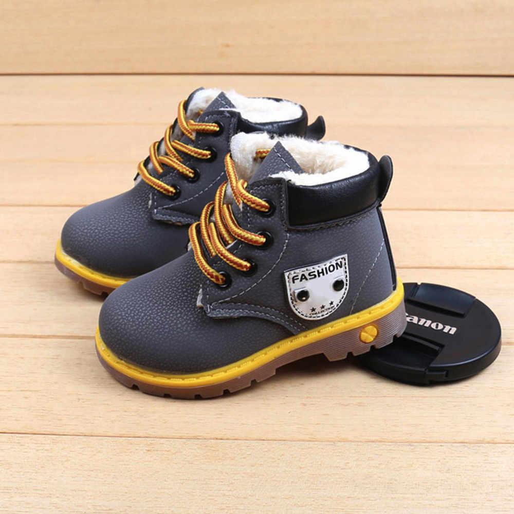 Çocuk botları ayakkabı Toddler bebek kız erkek kış kar botları ayakkabı çocuk sıcak ayakkabı kar botları çocuk çocuk bebek ayakkabıları