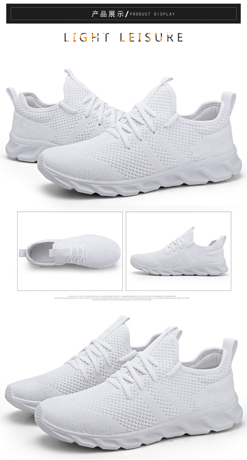 H1ab1aa751e8241e6a495ff58101718ecI Men Light Running Shoes Flyknit Breathable Lace-Up Jogging Shoes for Man Sneakers Anti-Odor Men's Casual Shoes Drop Shipping