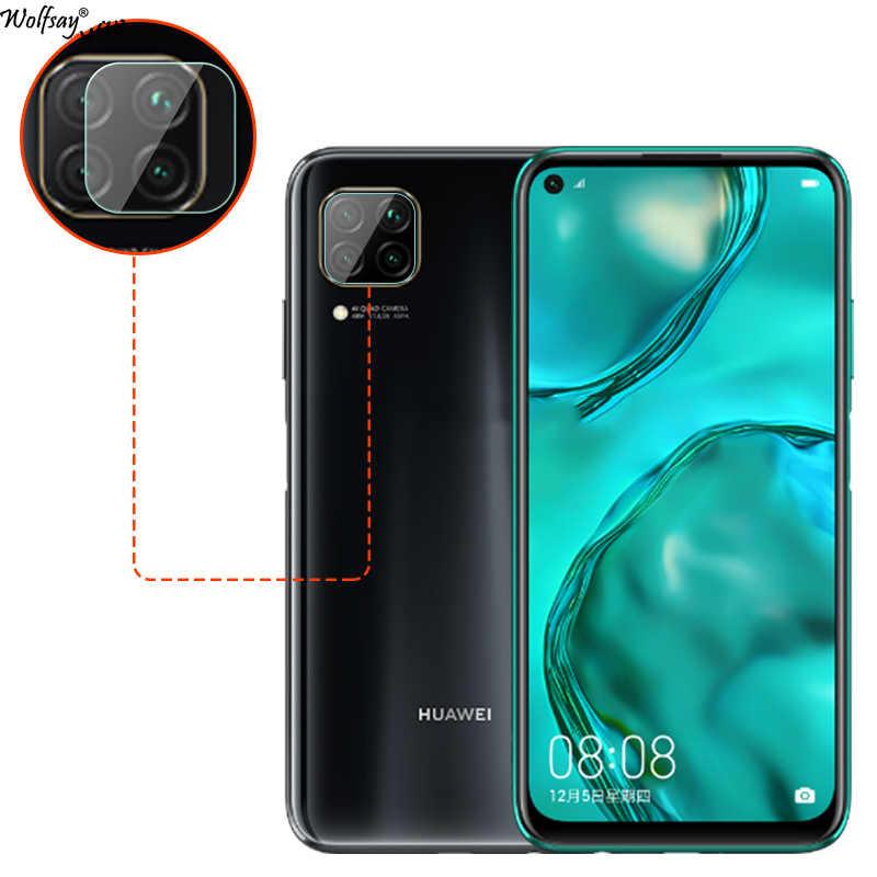 """2 Buah Kamera Belakang Anti Gores untuk Huawei P40 Lite Lensa Pelindung Layar untuk Huawei Nova 6 SE Penuh Terpaku film Anti Gores 6.4"""""""