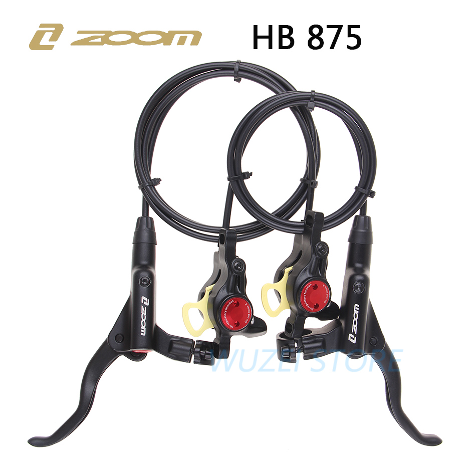 ZOOM HB-875 Brake Mtb Bike Hydraulic Brake 800/1400mm Mountain Bicycle Oil Pressure Disc Brake Set Front And Rear Bike Parts