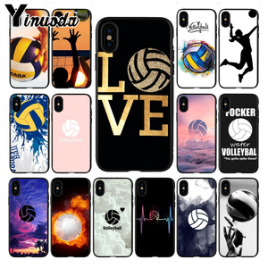 Yinuoda Volleyball Painted cover soft Cell Phone Case for iPhone 7plus X xs max xr 6 6S 7 8 8Plus 5S 11pro case(China)