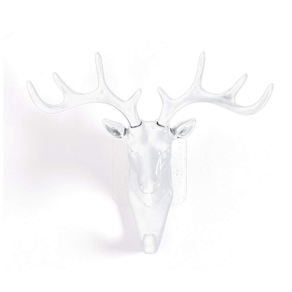 Wall Hanging Hook Vintage <font><b>Deer</b></font> Head Antlers for Hanging Clothes Hat Scarf Key <font><b>Deer</b></font> Horns <font><b>Hanger</b></font> Rack Wall Decoration image