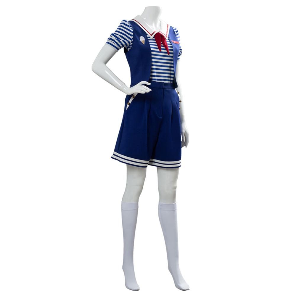 Stranger Things 3 Scoops Ahoy Robin Cosplay Costume Dress Steve Harrington Adult Uniform Working Sailor Suit Halloween Carnival 3