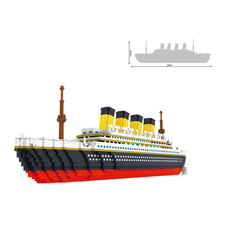 3800 pezzi FAI DA TE Titanic ship building blocks mini diamante assemblare modello di formazione mattoni giocattoli per bambini