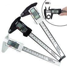 Paquímetro digital eletrônico, de alta precisão, 0-150mm, ferramenta de medição, régua de medição, diâmetro interno, exterior