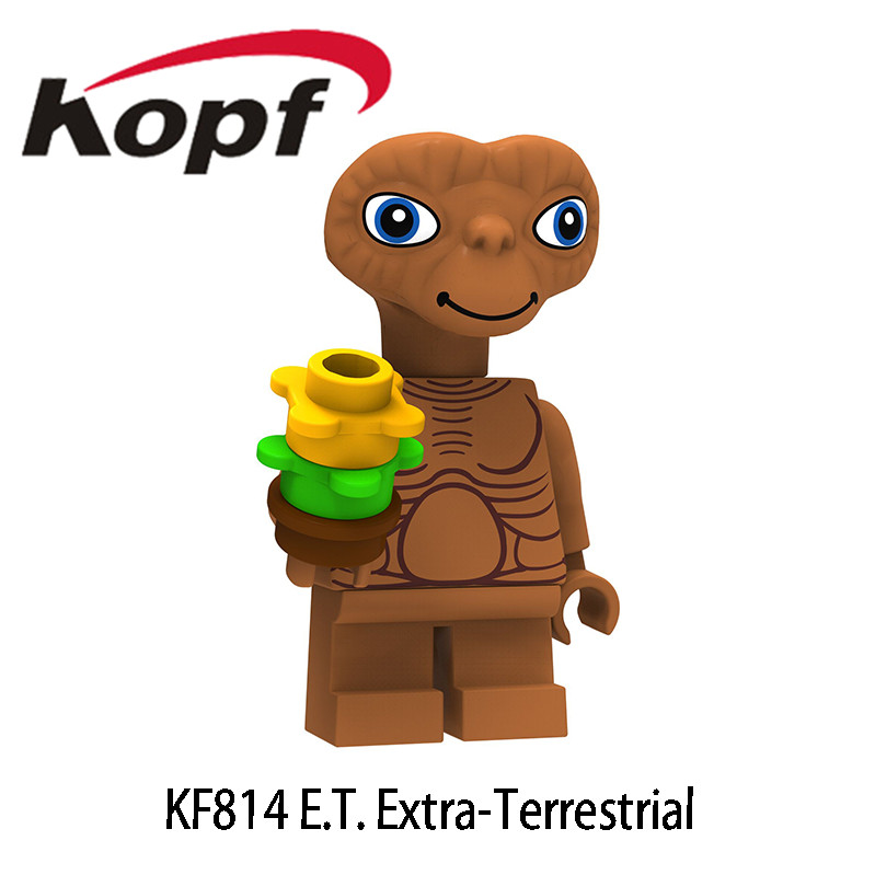 Single Sale Science Fiction Movie E.T. The Extra-Terrestrial Stripe Gizmo Figures Building Blocks Toys Gift For Children KF814