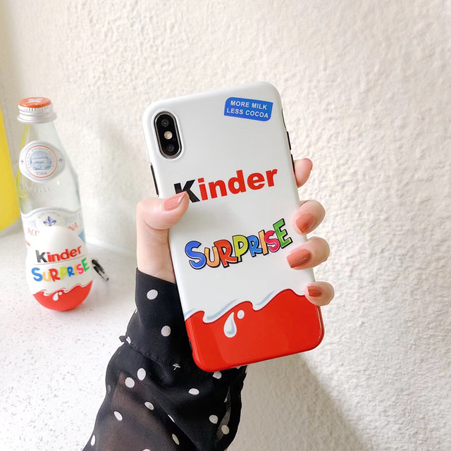 New Trolly egg KINDER JOY Surprise soft silicon cover cases for iphone 6 6S 11 Pro