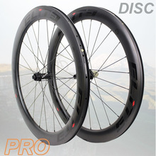 Elite Road Disc Brake Carbon Bicycle Wheel YAn RD05 HUB 30/38/47/50/60mm Tubular Clincher Tubeless 700c Fiber Road Bike Wheelset 700c combo front 60mm rear 88mm tubeless clincher road bike carbon rims 23mm wide v shape bicycle wheel rim