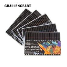 فرشاة ألوان مائية قلم علامات مجموعة لرسم الخط الكتابة على الجدران رسم قلم تحديد حروف القلم 48 60 72 100 Colors