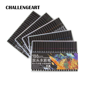 Image 1 - Aquarelle pinceau stylo marqueurs ensemble pour dessin calligraphie Graffiti croquis marqueur stylo lettrage stylo 48 60 72 100 couleurs