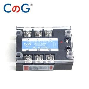Image 4 - CG 3 Phase 10A 25A 40A DA 60A 80A 100A 150 200A Three Phase SSR 3 32V DC Control 24 480V AC Solid State Relay SSR AC Three DC AC