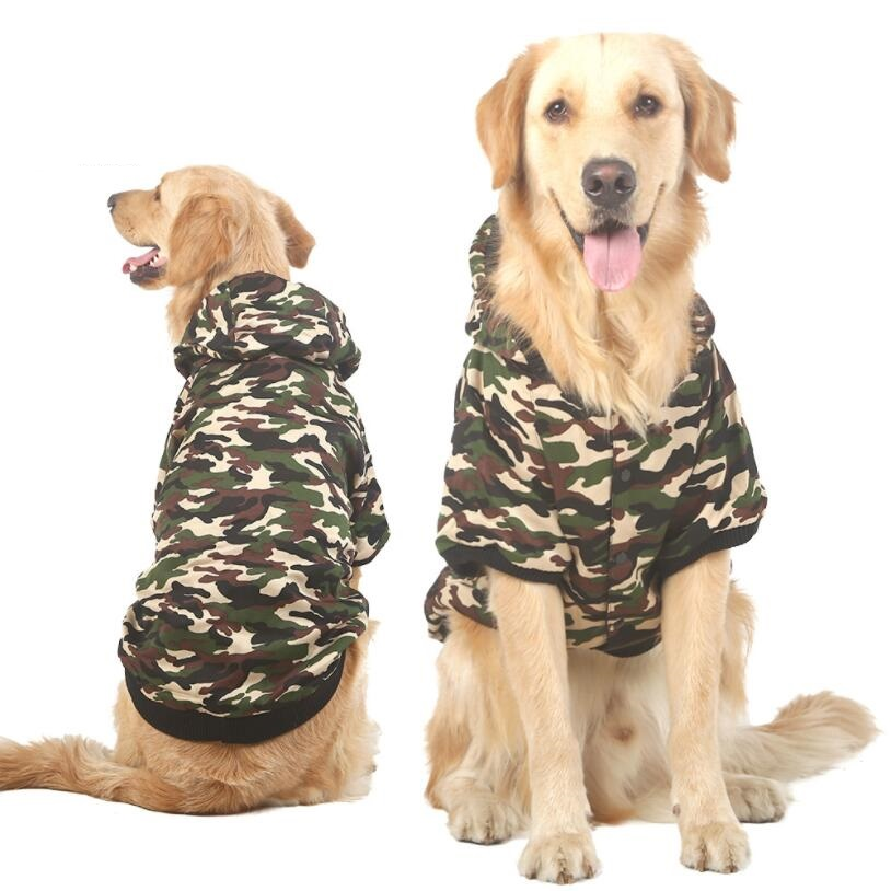 NEW Autumn Large Dog Coat Big Dog Clothes Pet Jacket Camo Warm Costume Labrador  Big Dogs 3XL-7XL