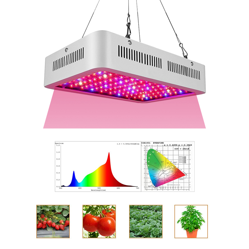 Grow Light Upgrade 1000w Led Full Spectrum Plant Lighting With Rear Fan Hooks  For Indoor Therapy, Grow Box, Hydroponic Plants