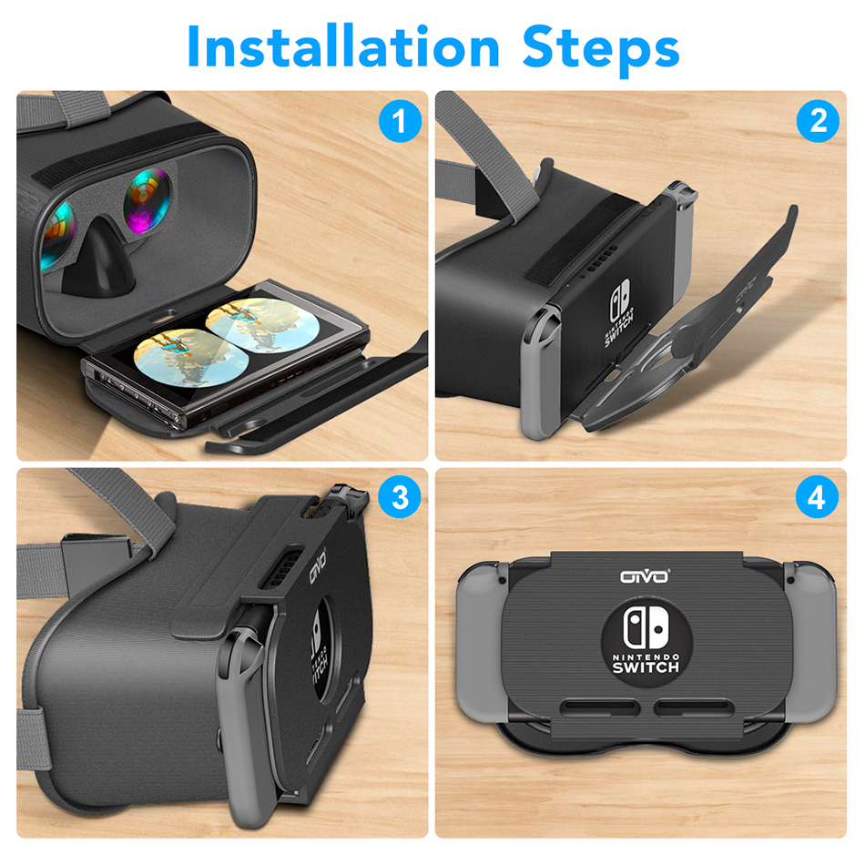 OIVO Switch VR Headset for Nintend Switch LABO VR Big lens Virtual Reality Movies Switch Game 3D VR Glasses for Odyssey Games 4