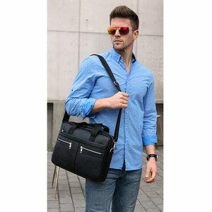 Image 2 - 2020 nouveau porte documents mode affaires hommes sac à main en cuir véritable hommes sacs de messager meilleurs sacs pour ordinateur portable poignée supérieure