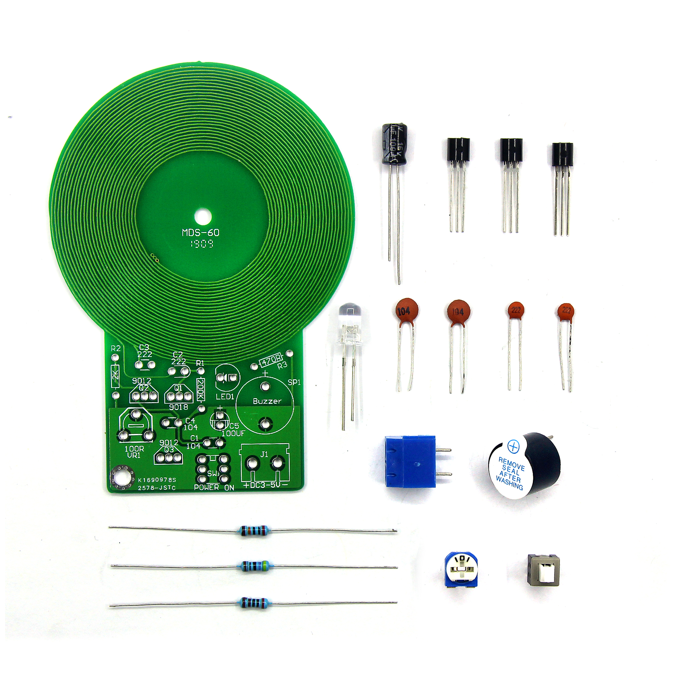 Metal Detector Electronic DC 3V-5V 60mm Non-contact Sensor Board Module Electronic Part Metal Detector DIY Kit