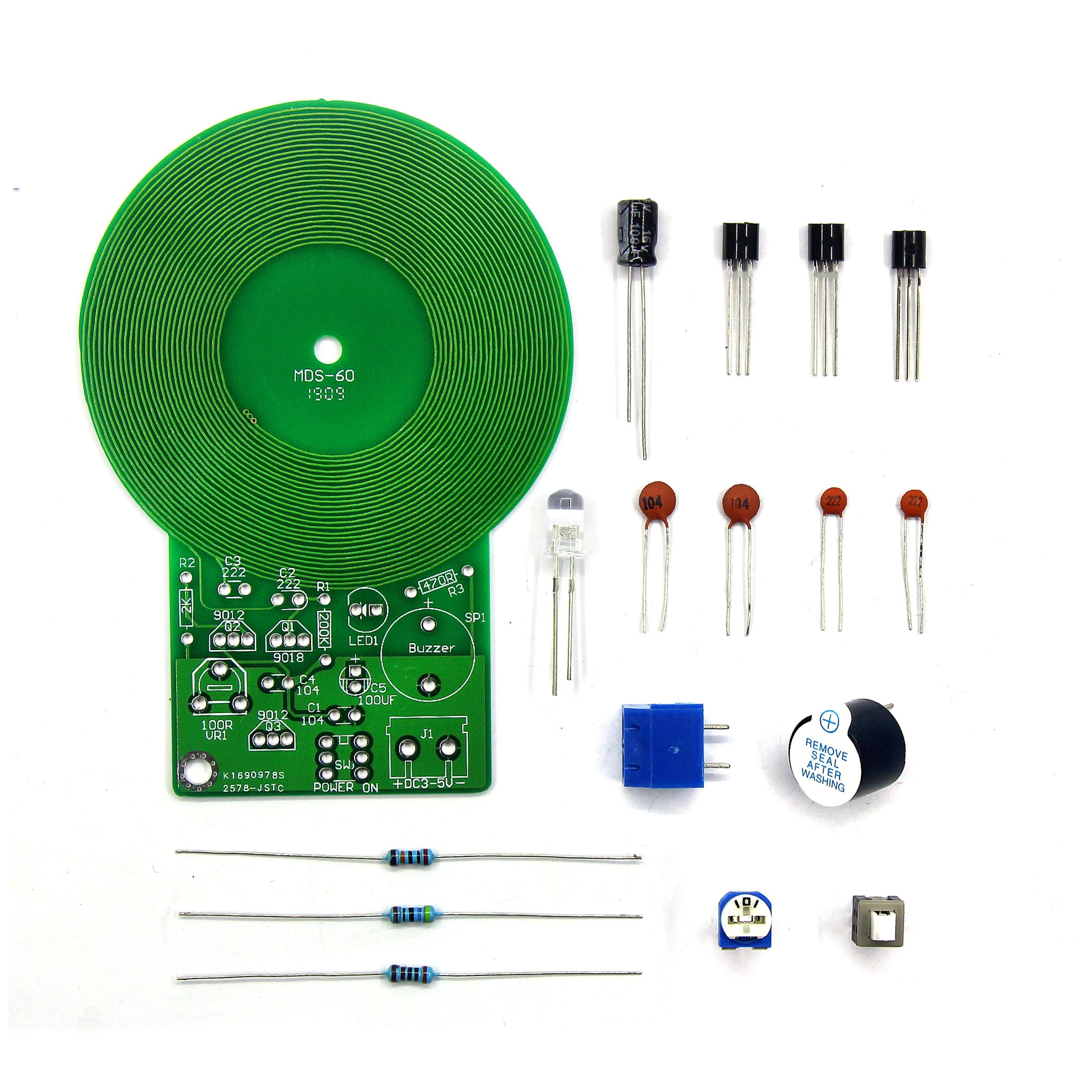 Metal Detector Electronic DC 3V-5V 60mm Non-contact Sensor Board Module Electronic Part Metal Detector DIY Kit