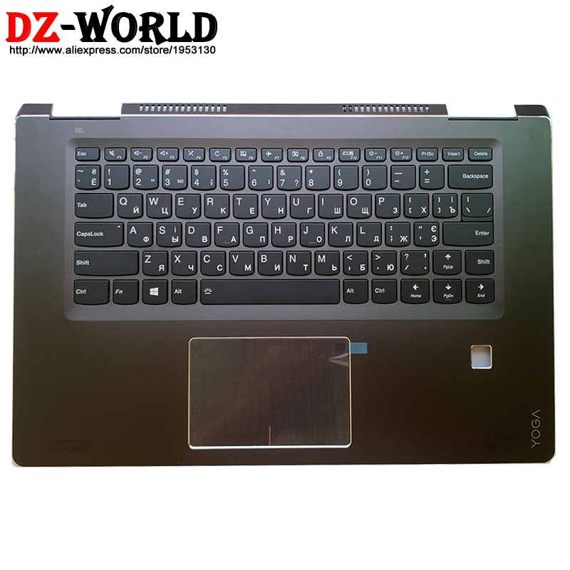 New/orig Palmrest Upper Case With Russian Backlit Keyboard Touchpad for Lenovo Ideapad Yoga 710-15IKB Laptop C Cover 5CB0M31004