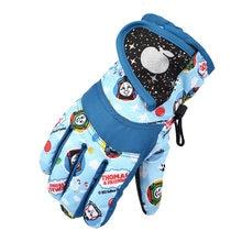 Водонепроницаемые теплые перчатки для девочек и мальчиков, зимние профессиональные лыжные перчатки, Детские ветрозащитные перчатки для ка...