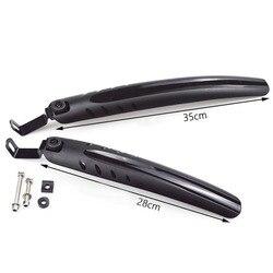 1 Pasang Pengerjaan Sepeda Lipat Sepeda Fender Spatbor Depan & Belakang 12-14 Inci/16-20 inci Tahan Terhadap Kerusakan
