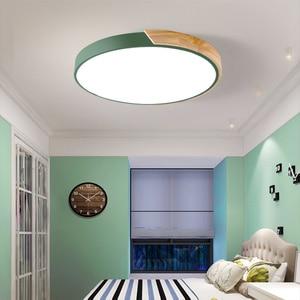 Image 3 - Luzes de teto led ultra fino moderno lâmpada do teto nordic regulável sala estar quarto luz redonda luminária superfície montado