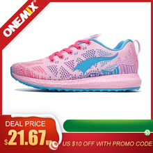 ONEMIX Women Running Shoes Breathable Outdoor White Sports
