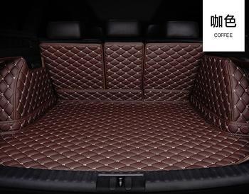 15PCS car Trunk mats For Mercedes Benz C class 2015-2019 W205 beach wagon C180 C200 C300  car styling liners Accessories