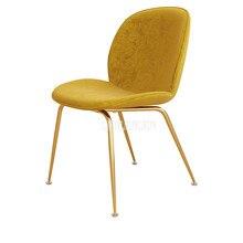 Современный простой Гостиная кресло для отдыха простая модная углерода Сталь металлические ножки, обеденный стул минималистский обучения чтения кресло для отдыха