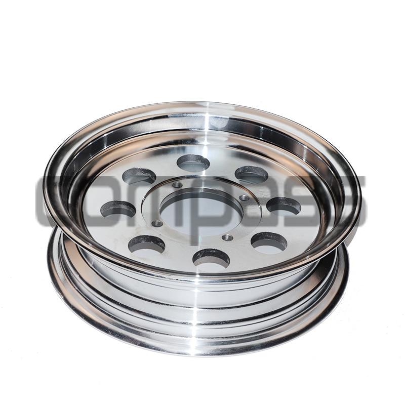 Roue pour singe vélo petit singe moto aluminium roue moyeu 2.5 / 2.75 / 3.0 / 3.5 / 4.0 - 10 pouces 8 trous vide