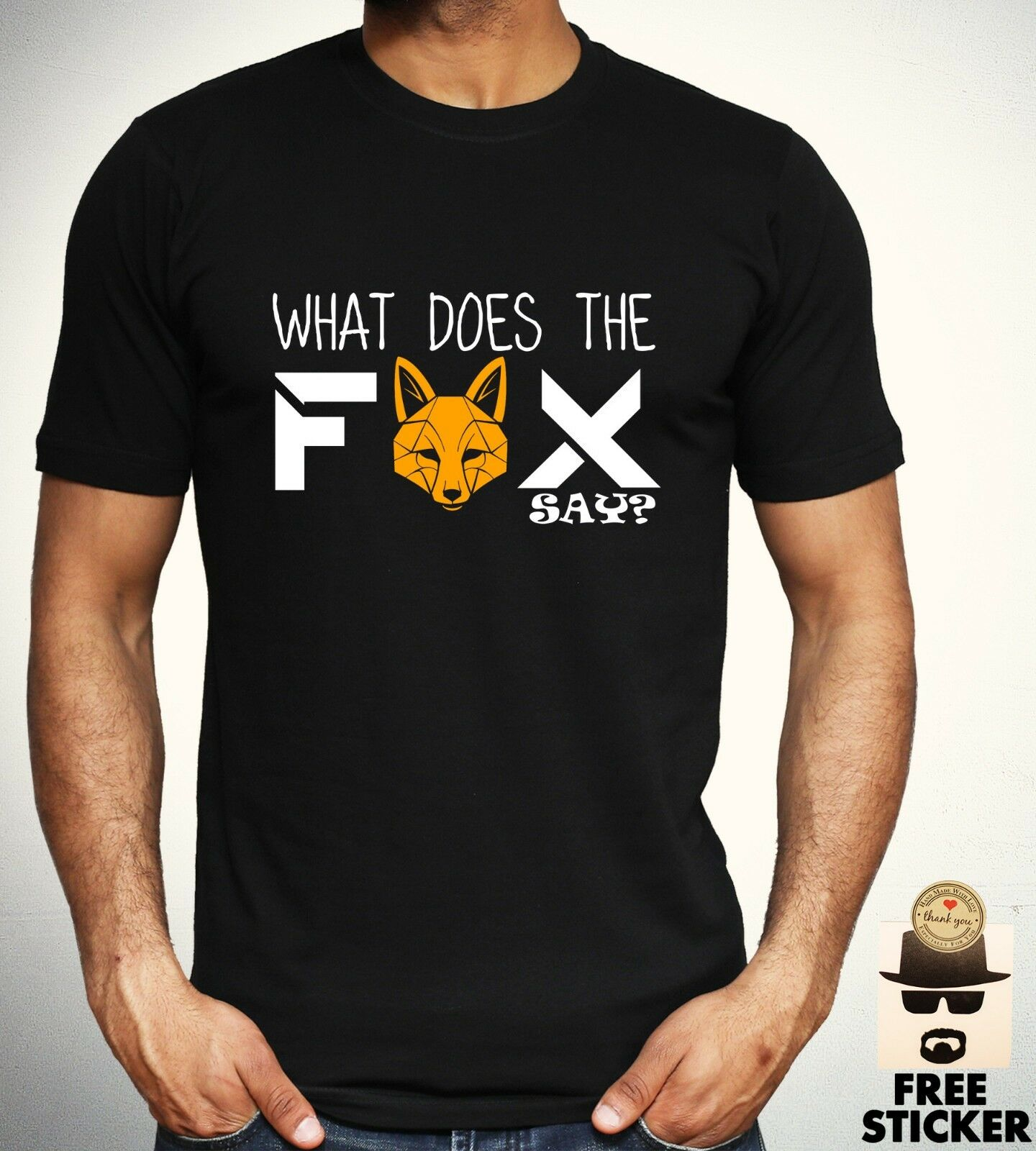 What Does The Fox Say T shirt Funny <font><b>Viral</b></font> Meme Tee Cool Gift Top Mens S - 3XL Men Women Unisex Fashion tshirt Free Shipping image