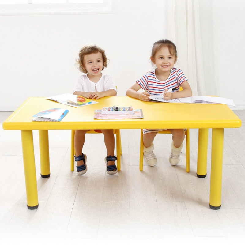 Kindergarten Desks And Chairs Children's Table Set Baby Toy Table Home Plastic Learning Desk Rectangular Chair