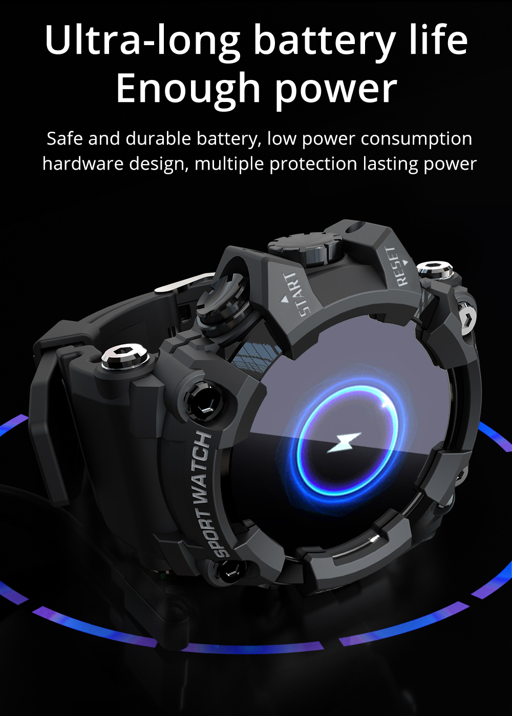 H1ab310e3c9814d8cb5d429419a217ff7l LOKMAT ATTACK Full Touch Screen Fitness Tracker Smart Watch Men Heart Rate Monitor Blood Pressure Smartwatch For Android iOS
