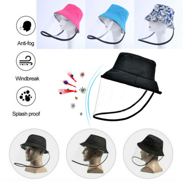 Detachable Protective Fisherman Hat Anti-saliva Hat Women UV Protection Mask Hat Dustproof Face Shield 1