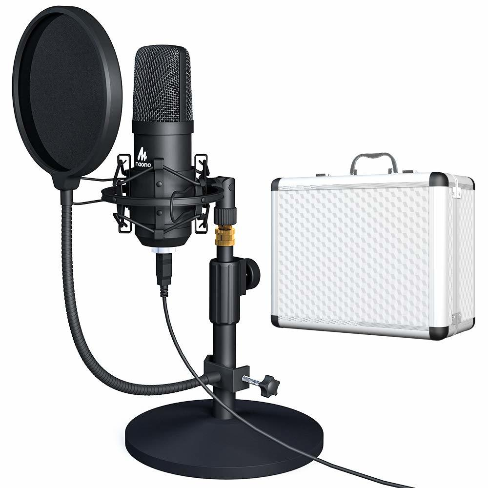 100%Original MAONO A04TC USB Microphone Kit  Professional Condenser Microfono Podcast Streaming Mic For YouTube Gaming Recording