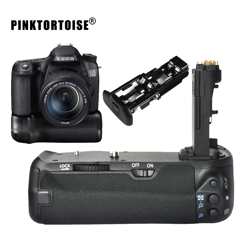PINKTORTOISE 70D <font><b>Battery</b></font> <font><b>Grip</b></font> holder for Canon EOS 70D <font><b>80D</b></font> DSLR as BG-E14 LP-E6 image