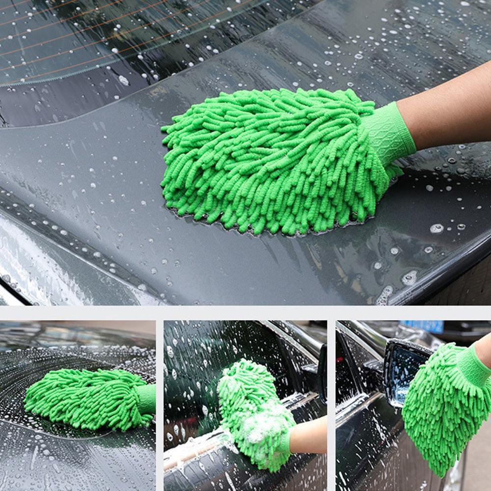 Сушильные перчатки для автомойки, ультратонкие волоконные перчатки из синели микрофибры для мойки окон, перчатка для мытья машины, автомоб...